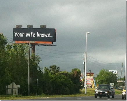your wife knows billboard